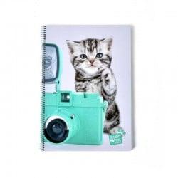 Cuaderno Tapa Dura A4 Studio Pets Cat Camera