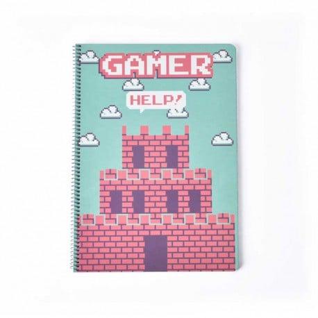Cuaderno Tapa Dura A4 Gamer Castillo
