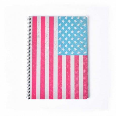 Cuaderno Tapa Dura A4 Nueva York Colores