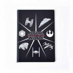 Cuaderno Tapa Dura A4 Star Wars VII Naves