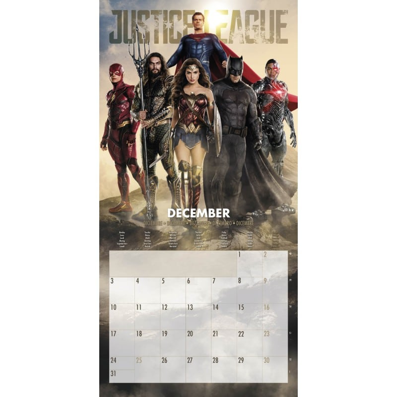 Calendario 2018 dc comic justice league for Puerta wonder woman