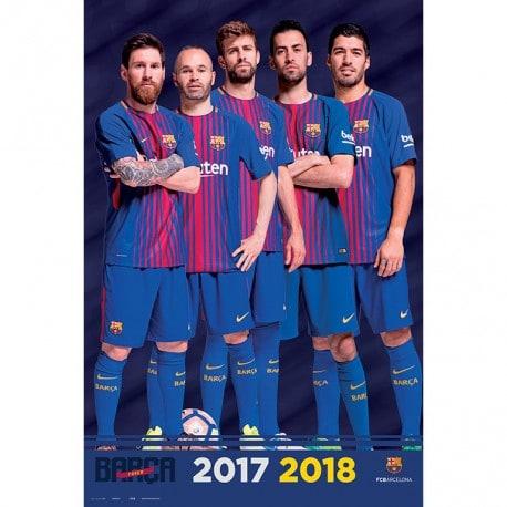 Poster Fc Barcelona 2017/2018 Grupo