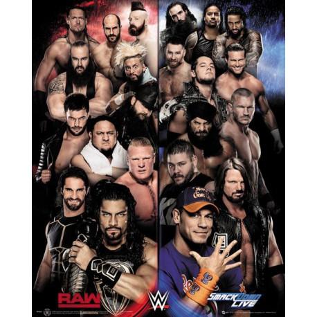 Mini Poster WWE Raw VS Smackdown