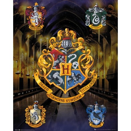 Mini Poster Harry Potter House Crests