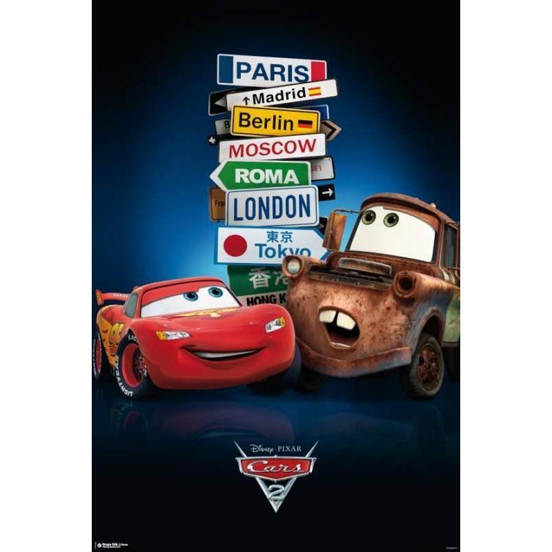 El Poster Cars 2 Señales Ciudades de mejor calidad y ...
