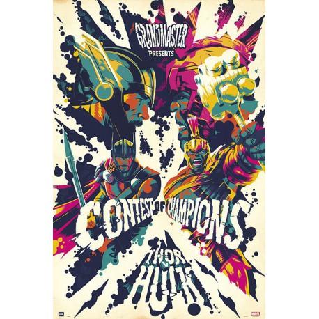 Poster Marvel Thor Ragnarok Psicodelico
