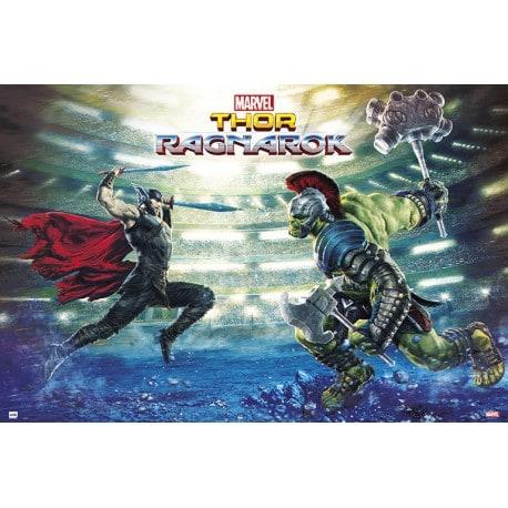 Poster Marvel Thor Ragnarok Batalla