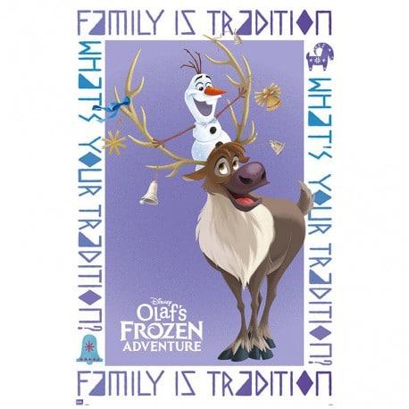 Poster Frozen Aventuras de Olaf & Sven