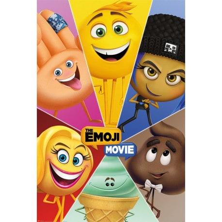 Poster Los Emoji Movie (Personajes)