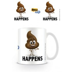 Taza Emoji Poop Happens