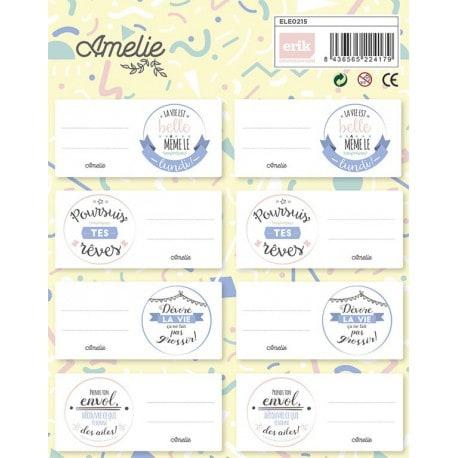 Etiquetas Escolares Amelie (en francés)