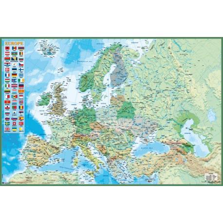 Poster Mapa Europa Ingles