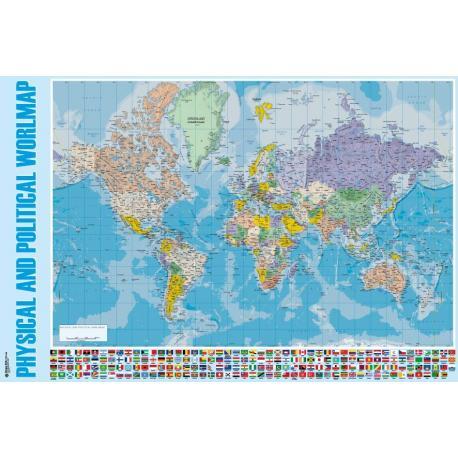 Poster Mapa Mundo Inlges