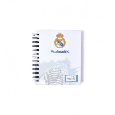 Mini Note Book Tapa Dura Real Madrid 2
