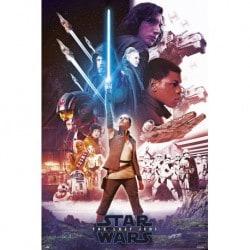 Poster Star Wars VIII Sable de Luz Azul