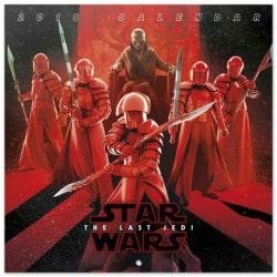 Calendario 2018 30X30 Star Wars VIII