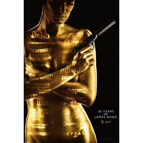 Poster James Bond 50Th Aniversario