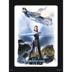 Lamina 30X40 cm Star Wars VIII Rey