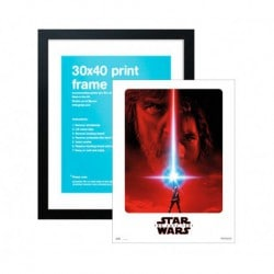 Lamina 30X40 cm Star Wars VIII El Ultimo Jedi + Marco