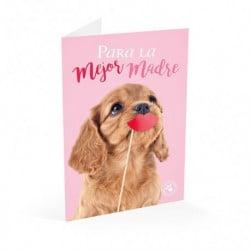 Tarjeta Felicitacion Studio Pets Perro Para La Mejor Madre