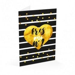 Tarjeta Felicitacion Glitter Eres Mi Nº1