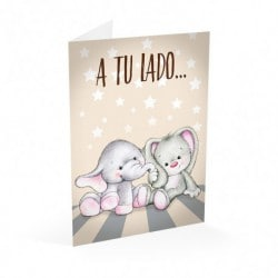 Tarjeta Felicitacion A4 Siempre A Tu Lado