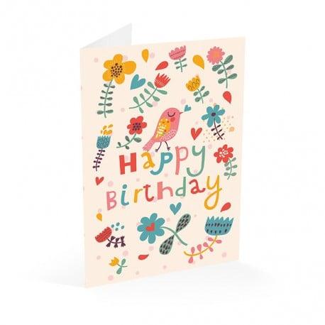 Tarjeta Felicitacion A4 Happy Birthday