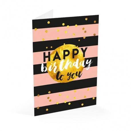 Tarjeta Felicitacion A4 Glitter Happy Birthday