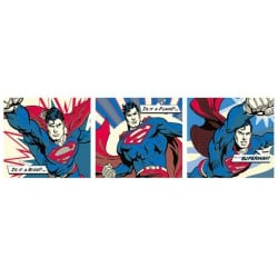 Poster Puerta Superman Pop Art Tryptych