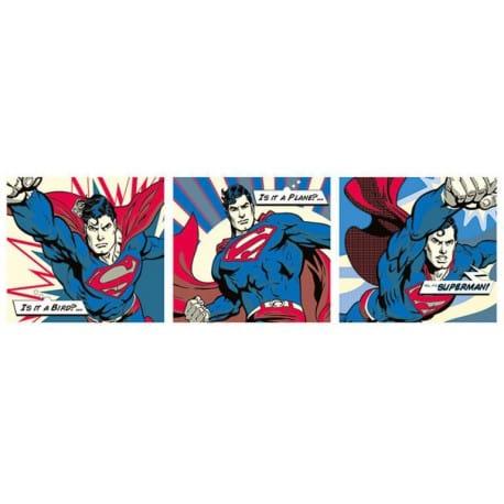 Poster Puerta Superman Pop Art Tryptych