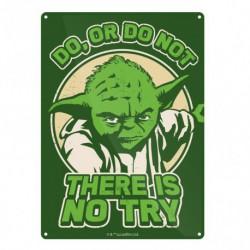 Placa Metalica Pequeña Star Wars Yoda