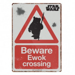 Placa Metalica Pequeña Star Wars Ewok