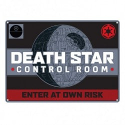 Placa Metalica Pequeña Star Wars Death Star