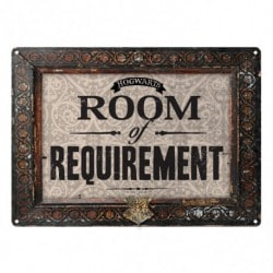 Placa Metalica Pequeña Harry Potter Room Of Requirement