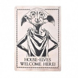 Placa Metalica Pequeña Harry Potter Dobby