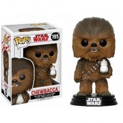 Figura Pop Bobble Star Wars VIII Chewbacca With Porg - 9 cm