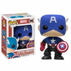 Figura Pop Bobble Marvel Black Blue Cap America SDCC 2017 Exc- 9 cm