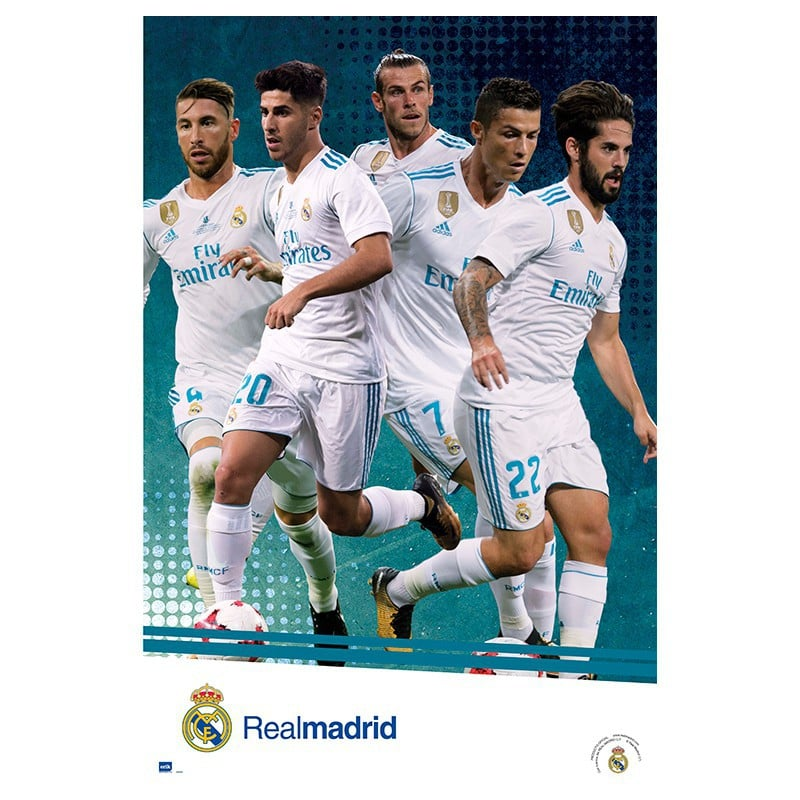 Poster Real Madrid 2017 2018 Grupo Accion Nosoloposters Com