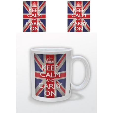 Taza Keep Calm-Union Jack
