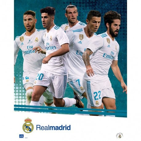 Mini Poster Real Madrid 2017/2018 Grupo