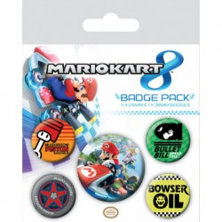 Pack de Chapas Mario Kart 8