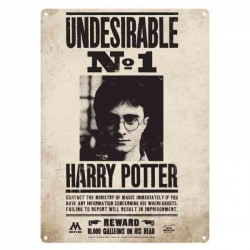 Chapa Metalica Harry Potter Undesirable N1