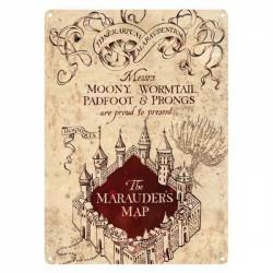 Placa metálica pequeña Harry Potter (Mapa del Merodeador)