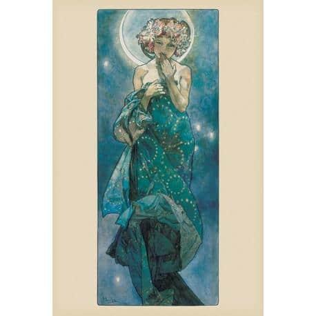 Poster Mucha Moon