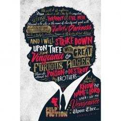 Poster Pulp Fiction (Ezekiel 25:17)