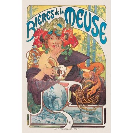 Poster Mucha Bieres