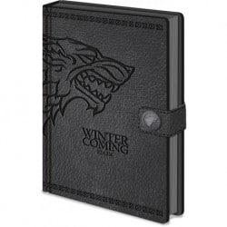 Cuaderno A5 Premium Juego de Tronos Stark