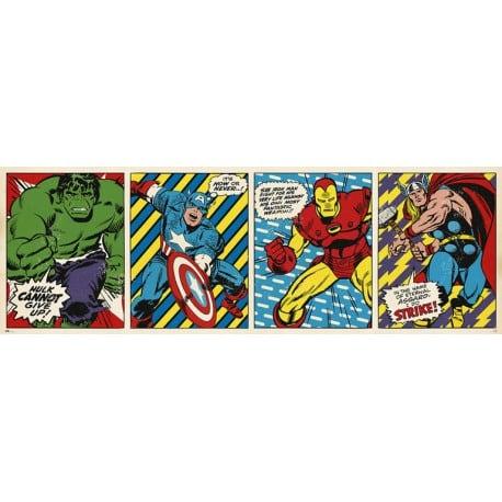 Poster Puerta Marvel Comics Tríptico