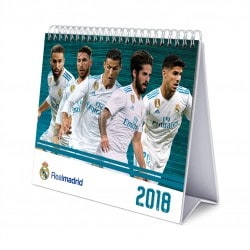 Calendario Sobremesa Deluxe 2018 Real Madrid
