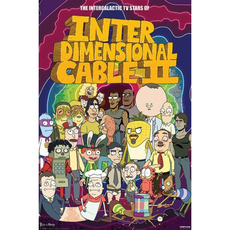 Poster Rick and Morty (Stars of Interdimensional Cable)